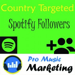 Spotify Country Targeted Followers for Artist & Playlist
