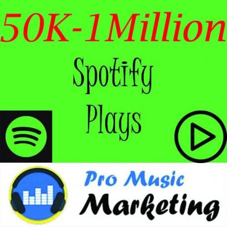50K 100K 250K 1Million spotify Plays Promotion